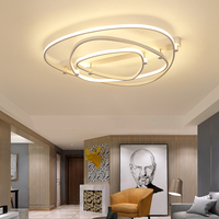 White Color Modern chandelier circle rings led chandelier lighting for Living room Dining room AC 85 260V 47CM 57CM 80CM 100CM