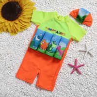 Knee Swimsuit For Children Float Learning Swim Wear Sleeve Buoyancy Swimwear Lovely Kids Boy Bathing Suit Protective Swimsuit