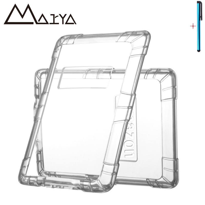 Case For Amazon Kindle2 Paperwhite Silicone Clear E-book Slim Armor Transparent Tablet Case Cover For Kindle Kindle 2 Paperwhite for amazon kindle paperwhite e book leather case print slim smart ebook cover for kindle paperwhite 3 e reader protective stand