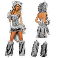 New Sexy Furry Wolf Girl Costume wolf women Costumes Halloween Furry Costumes for women Animal Costume Cosplay