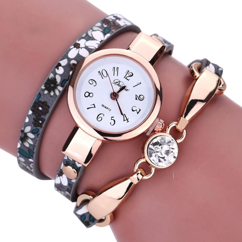 Lowest Price Women Watches Diamond Wrap Around Leatheroid Quartz Wrist Watch Reloj de la ...