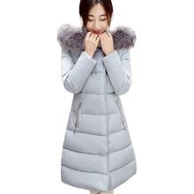 2016 Winter Jacket Women Parka Fur Collar Female Hooded Thick Cotton Padded Winter Warm Coat Outwear Manteau Femme 50