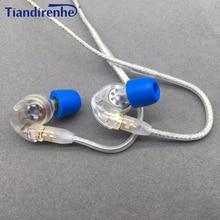 Tiandirenhe מקורי MMCX אוזניות כבל עבור Shure SE215 SE535 SE846 אוזניות דינמי 10mm יחידות HIFI מותאם אישית ספורט אוזניות