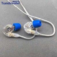 Tiandirenhe Original MMCX Earphone Cable for Shure SE215 SE535 SE846 Headset Dynamic 10mm Units HIFI Customized Sport Headphone
