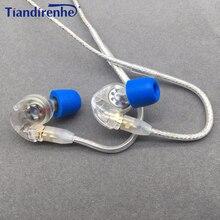 Tiandirenhe orijinal MMCX kulaklık kablosu Shure SE215 SE535 SE846 kulaklık dinamik 10mm üniteleri HIFI özelleştirilmiş spor kulaklık