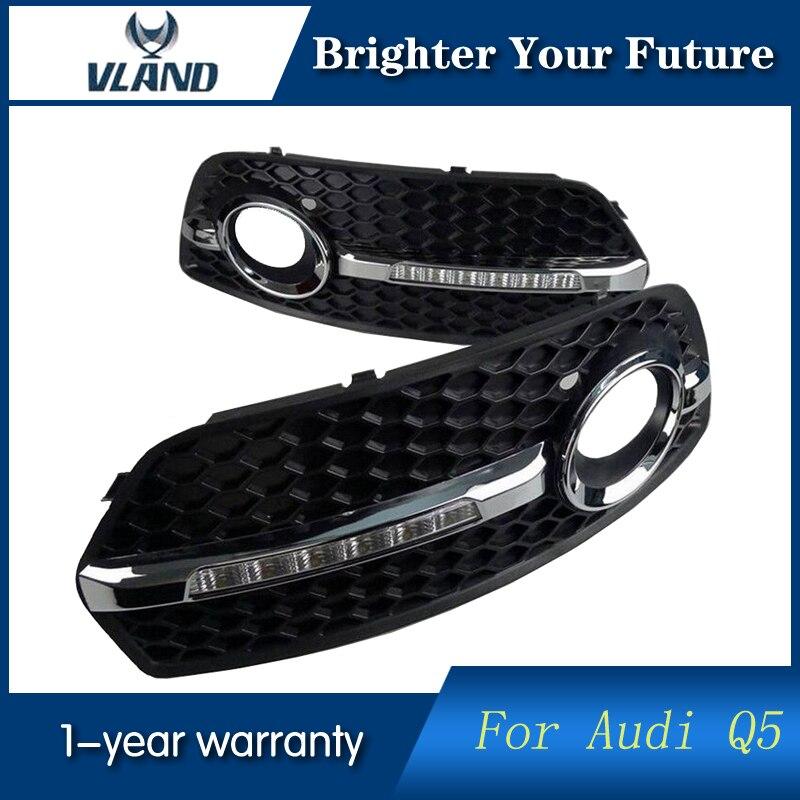2 pièces Phares Antibrouillard Avant Pour Audi Q5 2010 2011 2012 LED Feux Diurnes DRL