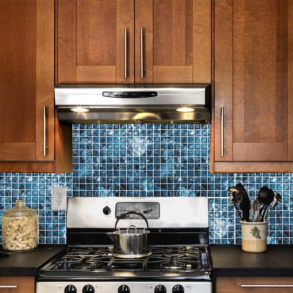 Cocotik Peel and Stick Tile Blue 3D Kitchen Backsplash Tile 10\