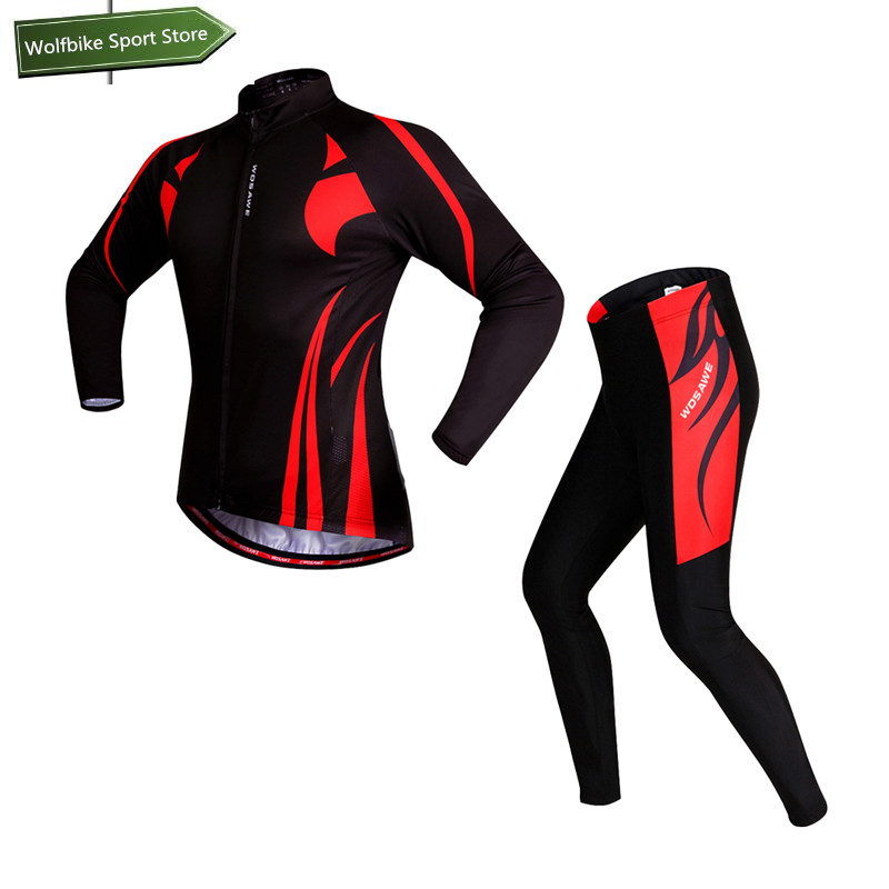 WOSAWE 2016 Red cycling Jerseys bike maillot ciclismo cycling clothing quick dry men's summer bicycle clothes sportswear