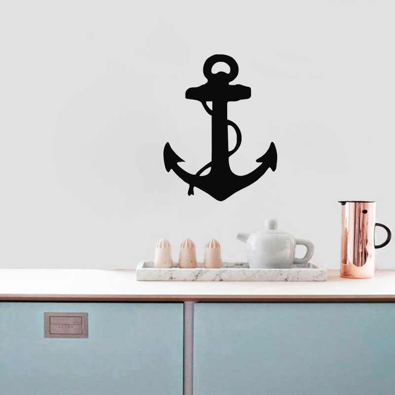 Nautical Anchor Wall Stickers Car Styling Sticker Small Computer Decals Window Decor DIY Removable Wallpaper