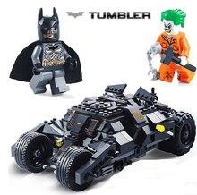 7105 бэтмен batmobile tumbler кирпичное здание блоки marvel super hero джокер классические игрушки совместимые с лепин фильм