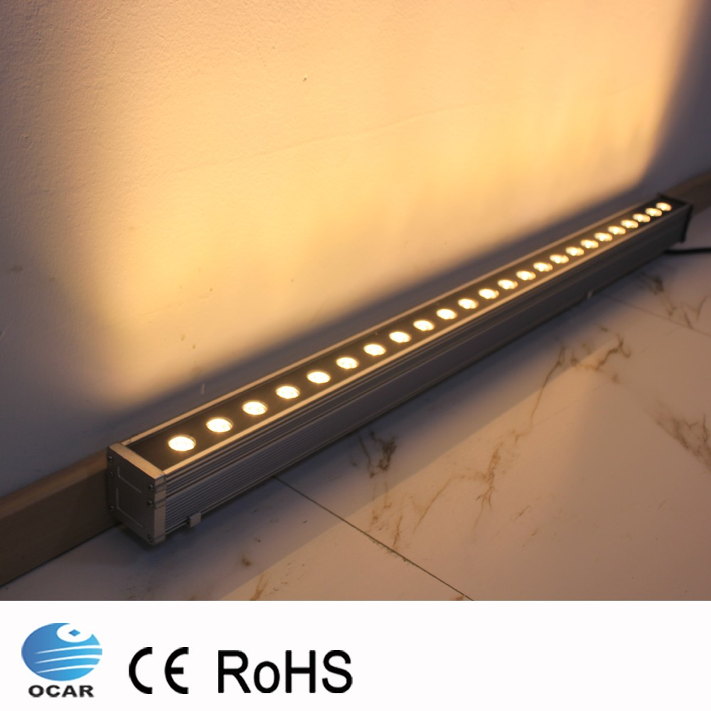 1M 24W LED Wall Washer Landscape light AC 24V AC 85V-265V outdoor lights wall linear lamp floodlight 100cm wallwasher
