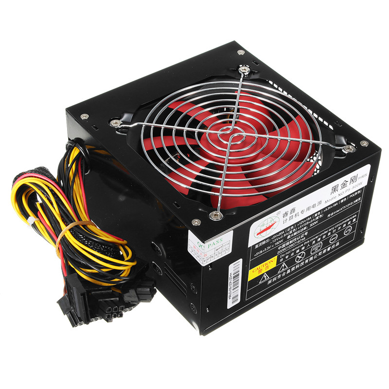 Desktop Power 500W Quiet Power Switching 12V ATX BTC Power Supply SATA 20PIN+4PIN Power Supply Computer Chassis For Intel AMD PC original tp3 650 rated 650w desktop power ultra quiet big windmill