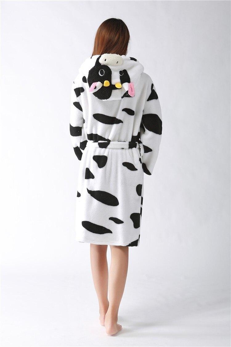 112d682a97 2016 Fashion Flannel Fleece Sexy Leopard bear Women robe Cartoon ...