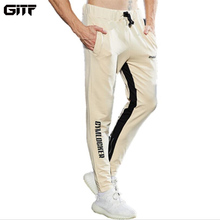 GITF 2019 Jogging Pants Running Trousers Men Casual Sweatpants Sportswear Mens Breathable training Gym Sports