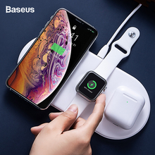 Baseus 3 in 1 Qi Wireless Charger For Airpods Apple Watch 4 2 iWatch Fast Charging Pad iPhone 11 Pro Xs Max X