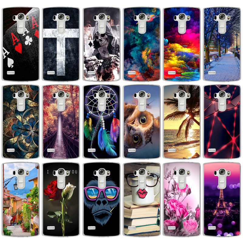 Phone Case Cover For LG G4S G4 Beat G4s H736 G4 S H735 Soft TPU Silicon Flowers Scenery Mobile Phone Bag Cover For LG G4S image