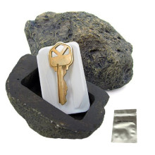 Fake Rock Look Feels Like Real Stone Diversion key safe Hidden Safe for Outdoor Garden with a food grade proof bag