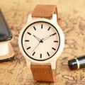 Simple Nature Wood Quartz Wristwatch Bamboo Women Men Fashion Analog Wooden Watches Genuine Leather Band Gift relogio masculino