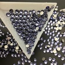 Good Quality Tanzanite Flat Back DIY Strass Crystal ss3-ss34 Non HotFix Nail Art Flatback Rhinestones for Clothes Decorations