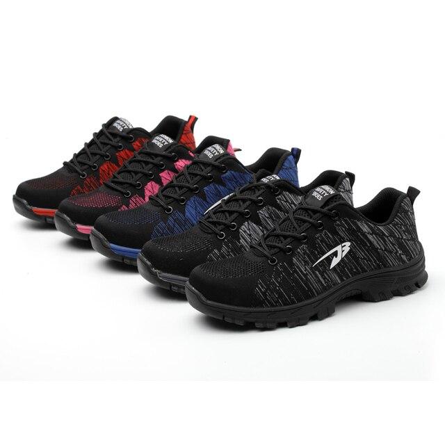 XZMDH Üst Satış Dropshipping Erkekler Ve Kadınlar Güvenlik Botları Açık Nefes erkek ayakkabısı çelik ayak Delinme Geçirmez Işçiler Sneakers