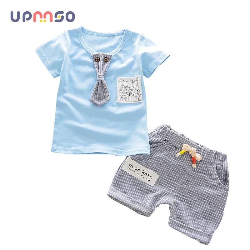 Новые летние Одежда для маленьких мальчиков Одежда для детей с коротким рукавом набор звезда для маленьких мальчиков короткий рукав D T-Рубашки для мальчиков + Детские Шорты для женщин