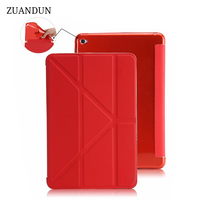 ZUANDUN Flip Smart Case For IPad Air 2 Luxury Leather Stand Silicon Soft TPU Back Cover