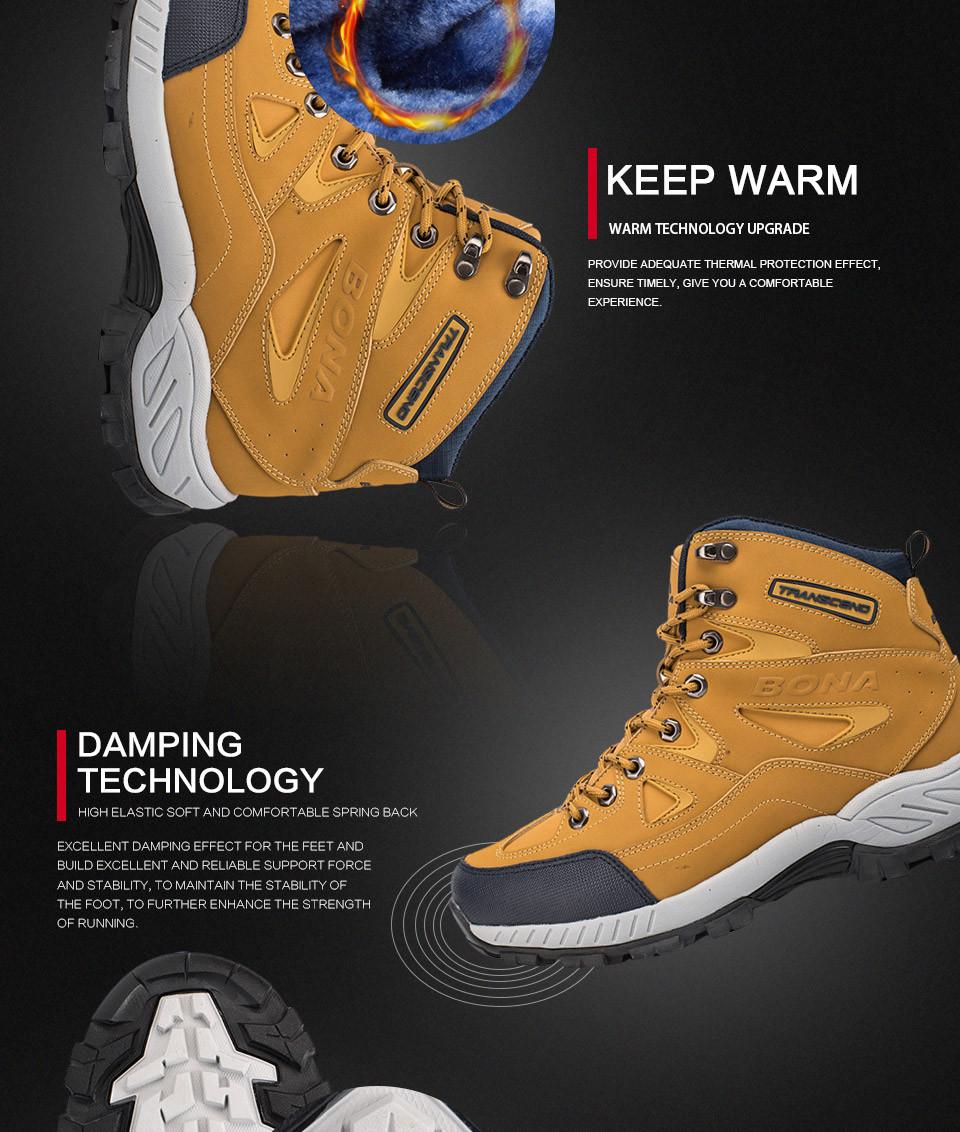 BONA Men Hiking Shoes Anti-Slip 7