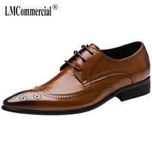 Bullock Genuine Leather shoes men cowhide spring fashion business leisure mens Lace-Up Business Men Shoes,Men Dress Shoes