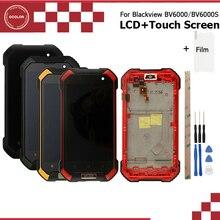 Ocolor Android 7.0 Per Blackview Bv6000 BV6000S LCD + Touch Screen + Telaio di Montaggio di Riparazione 4.7 Per Blackview BV6000 bv6000S + Film