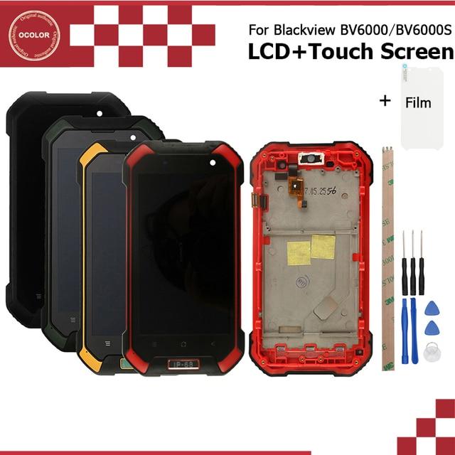 ocolor Android 7.0 For Blackview Bv6000 BV6000S LCD+Touch Screen +Frame Assembly Repair 4.7For Blackview BV6000 Bv6000S +Film