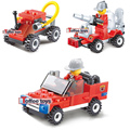 The toy car Fire car building blocks toys small ruban star type enlightenment educational hold assembled plastic toys