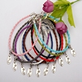 20pcs/Lot Antique Silver Moon Stars Logo Charm Pendant Handmade Multilayer 100% Braid Leather Bracelet Jewelry DIY For Men A265