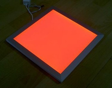ФОТО Free Shipping High Quality RGB Color 300x300x12mm LED Panel Light with Wireless Remote to make it Color Changeable and Dimmable