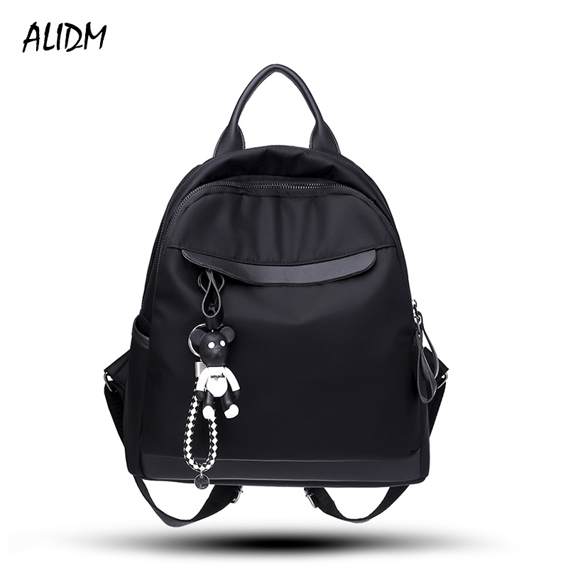 ALIDM Women Backpack nylon School Bags Students Backpack Women high quality Travel Bags Shoulder Bag College Student Backpack