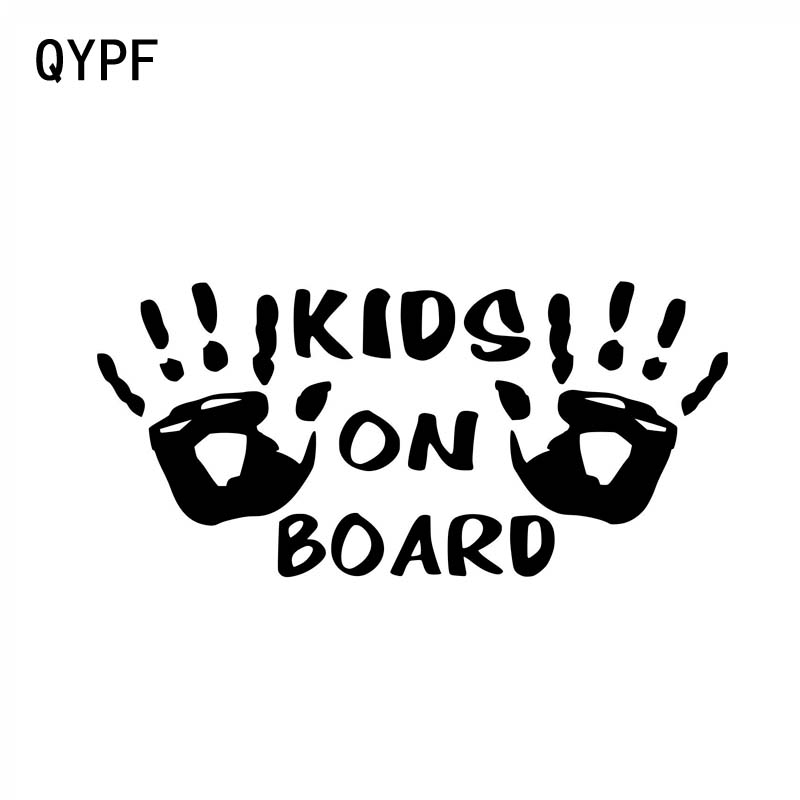 QYPF 15CM*7CM KIDS ON BOARD Vinyl Personality Car Motorcycle Sticker Decal Black Sliver C14-0216