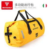 Motorcycle Waterproof Saddle Tail Bags Back Seat Bag 40/66/90L Travel Bag Motorbike Sport Luggage Rear Seat Bag Pack Yellow Gray