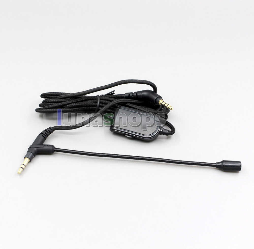 Skype Headset Headphone With Volume Control Cable For V-MODA BoomPro Gaming VoIP  LN006332