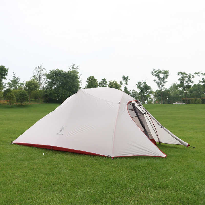 Hillman 3 Person Tent 20D Silicone Fabric Ultralight Double Layers Aluminum Pole Outdoor Camping Tent For 4 Season 3kg ultralight camping tent 2 3person coated with 20d silicon double layers aluminum rod snow mountain keep warm tents