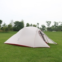 Hillman 3 Person Tent 20D Silicone Fabric Ultralight Double Layers Aluminum Pole Outdoor Camping Tent For 4 Season