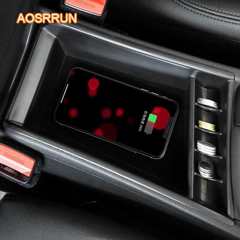 AOSRRUN spécial à bord QI sans fil panneau de charge de téléphone accessoires de voiture couverture pour BMW F48 X1 2018 SRTLING de voiture