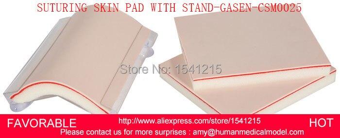 Modèle de peau humaine de mannequin de formation d'ursing modèle de peau médicale modèles de SIMULATION médicale suturant le coussin de peau avec le STAND-GASEN-CSM0025
