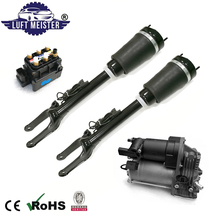 Front Air Suspension System Set fit for Mercedes W164 ML / GL Class 2pcs Air Struts with ADS & Air Compressor & Valve Block airmatic shock absorber air suspension for mercedes benz ml class w164 gl x164 with ads pair 1643206013 1643202731 1643202031