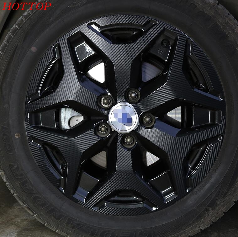 FIT for Subaru XV 2018 wheel decoration decorations modified special hub film carbon fiber sticker for subaru Forester2018