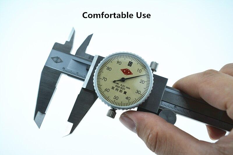 """6 """"0-150mm 0.02/0.01mm pinça de aço inoxidável à prova de choque vernier calibre de medição métrica ferramenta de medição"""