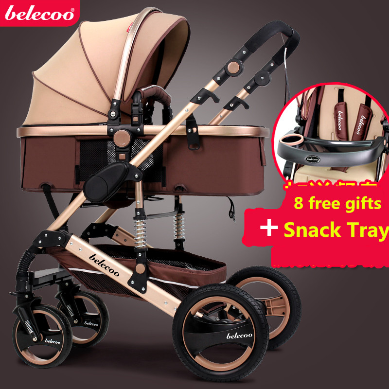 US free ship! Coupon ! Belecoo Baby Stroller 0–36 newborn Stroller  Inflatable Natural Rubber Wheels Four Wheel folding bb car