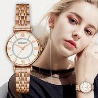 NOBDA Women Watches Women Top Famous Brand Luxury Casual Quartz Watch Diamonds Wristwatch Ladies Clock