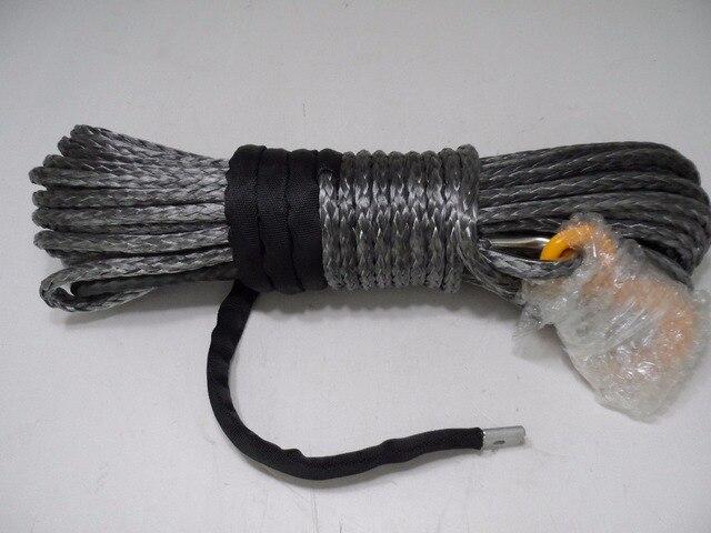 Cuerda sintética gris de 10mm x 30m, Cable del cabrestante del ATV, cuerda del cabrestante del barco para los accesorios, cuerda del camino