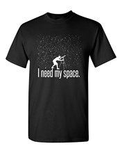 GILDAN I Need My Space Funny Astronomy Telescope Planets Galaxy Universe Stars Sky Humor Physics Science Mens Adult Graphic Tee