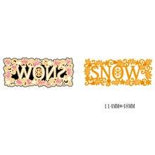 AZSG SNOW Cutting Dies For DIY Scrapbooking Card Making Decorative Metal Die Cutter Decoration