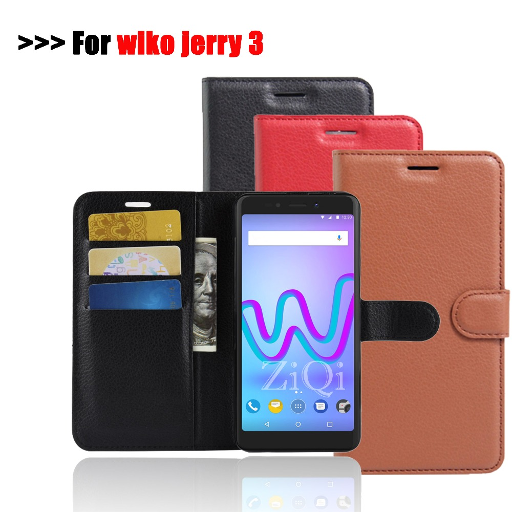 For Wiko Jerry 3 Case Wiko Jerry3 Cases Wallet PU Leather Cover Phone Case  For Wiko Jerry 2 Case Flip Protective Back Cover